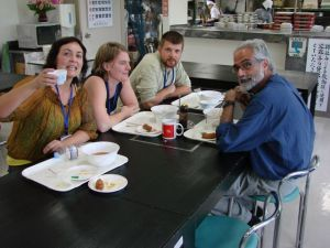 Angelica, Anja, Michael, & Shahid having lunch