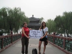 Arianne and Colleen visit the Summer Palace in Beijing before returning to the U.S.