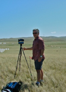 Jim with gigapan near BEF plots
